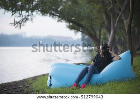 Portrait Loving Couple Enjoying To her Stock