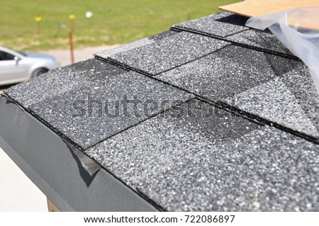 Building modern house construction metal roof stock photo 456331240 shutterstock - Put bitumen shingles roof cover ...