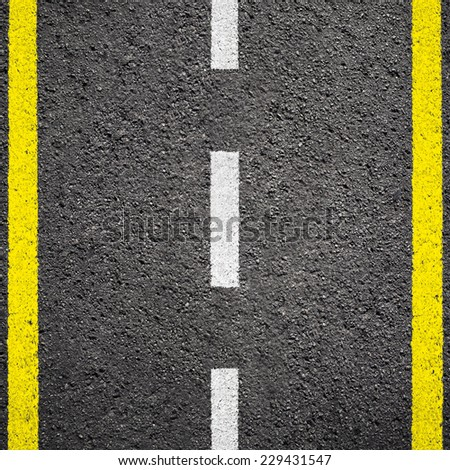 Asphalt texture background with white line