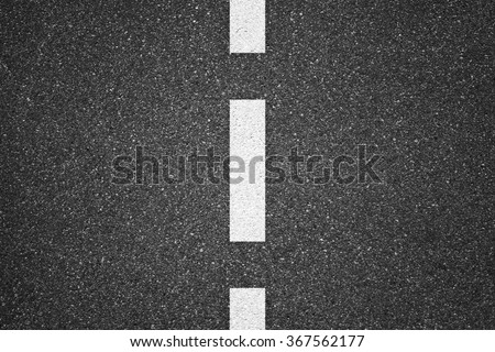 Asphalt texture background with white lines