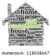 Asset Management in word collage compose in house shape - stock photo