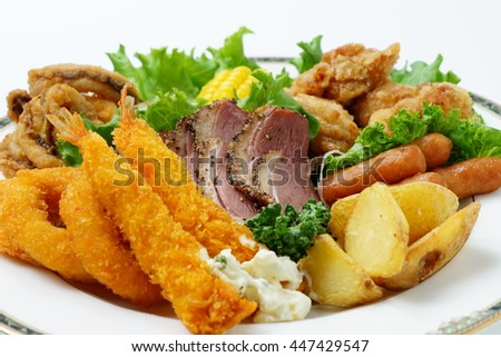 Assorted  fried food