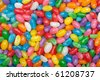 Assorted jelly beans. Colorful image great for backgrounds. Far shot. - stock photo