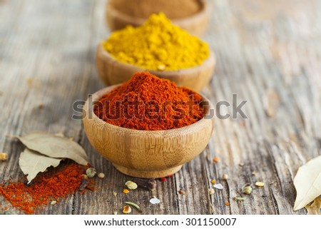 Assorted spices in bowl