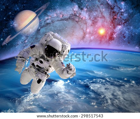 astronaut the outer space appears - photo #39