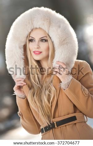 Blonde Teen In Fur Coat 101