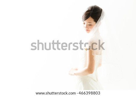attractive asian woman wedding image