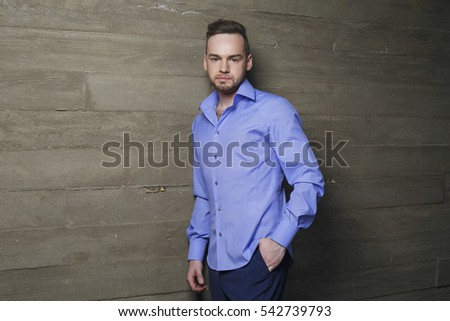 Attractive man in fashionable clothes