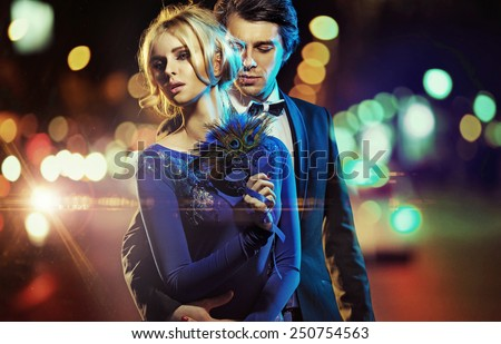 Attractive young couple posing