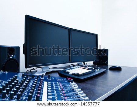 audio mixer and video editing workstation