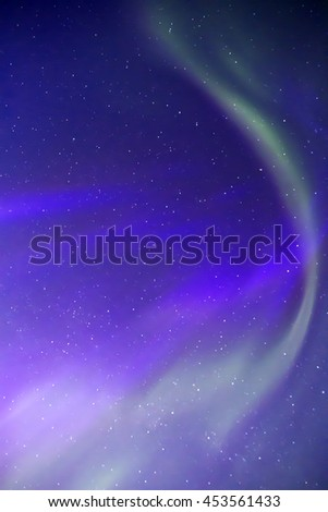 Aurora borealis northern lights in the night sky