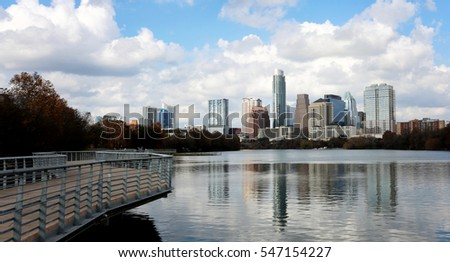 Austin, Texas, January 1st, 2017: Austin, Texas, USA downtown skyline on the Colorado River.Austin is the capital of the U.S. state of Texas. It is the 11th-most populated city in the U.S.