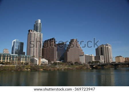 Austin texas skyline day time