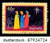 AUSTRALIA - CIRCA 1998: A greeting Christmas stamp printed in Australia shows Magi, circa 1998 - stock photo