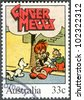 AUSTRALIA - CIRCA 1985: A stamp printed by Australia, shows Ginger Meggs, by James Charles Bancks, series Illustrations from classic children's books, circa 1985 - stock photo