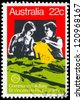 AUSTRALIA - CIRCA 1980: A Stamp printed in AUSTRALIA shows a Volunteers of Society of Saint Vincent de Paul, Community Welfare series, circa 1980 - stock photo