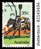 AUSTRALIA - CIRCA 1978: A stamp printed in Australia shows Bernborough (Horse Racing), circa 1978 - stock photo