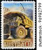 AUSTRALIA - CIRCA 2008 : a stamp printed in Australia shows heavy haulers machinery mining, CIRCA 2008 - stock