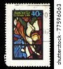 AUSTRALIA - CIRCA 1984: A stamp printed in Australia shows image of an angels, circa 1984 - stock photo