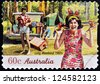 AUSTRALIA - CIRCA 2010: A stamp printed in australia shows long weekend 1960s, circa 2010 - stock photo