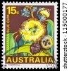 AUSTRALIA - CIRCA 1968: A Stamp printed in AUSTRALIA shows the Tasmanian Blue Gum, State Flowers series, circa 1968 - stock photo