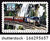 AUSTRALIA - CIRCA 1993: a stamp printed in the Australia shows Kuranda Tourist Train, Train, circa 1993 - stock photo