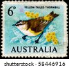 AUSTRALIA - CIRCA 1964: A Stamp shows image of a Yellow-tailed Thornbill from the series