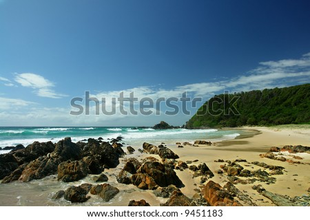 Australian coast, south of Byron Bay, New South Wales, Australia