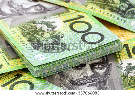 Australian one hundred dollar bills.
