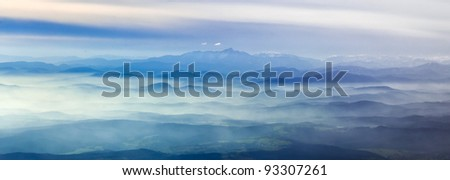 Austria, aerial view of the  Alps