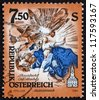 AUSTRIA - CIRCA 1994: a stamp printed in the Austria shows Cupola Fresco, by Paul Troger, Monastery of Altenburg, Niederosterreich, circa 1994 - stock photo
