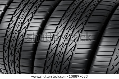Automobile Tires render (close-up)