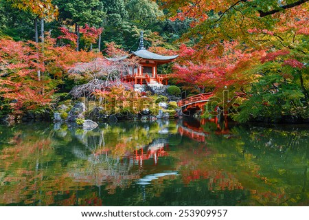 Autumn at Daigoji Temple in Kyoto, Japan