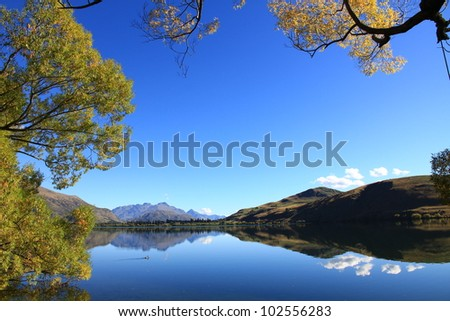 Autumn at Lake Hayes Near Queenstown New Zealand