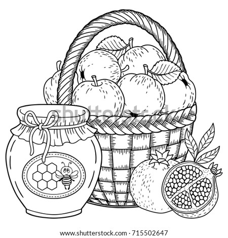 Autumn Vector Coloring Page Adults Black Stock Vector 703002145