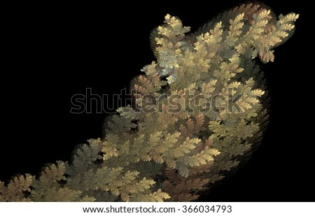 Autumn leaves in fractal image