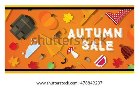 Autumn sale banner.