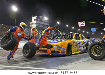 Avondale, AZ - Nov 12, 2016: Ricky Stenhouse Jr (60) makes a pit stop for the Ticket Galaxy 200 at the Phoenix International Raceway in Avondale, AZ.