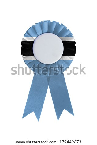 Award ribbon isolated on a white background, Botswana