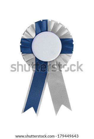 Award ribbon isolated on a white background, Finland