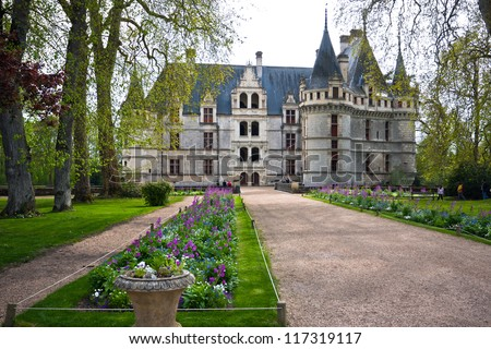 azaylerideau castle loire valley france this stock photo 117319024 shutterstock. Black Bedroom Furniture Sets. Home Design Ideas