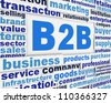 B2B slogan poster concept. Business marketing message design background - stock photo