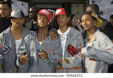B2K at the 3rd Annual BET (Black Entertainment TV) Awards at the Kodak Theatre, Hollywood. June 24, 2003  Paul Smith / Featureflash