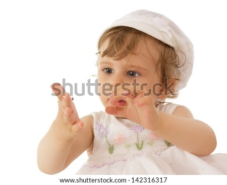 Little Month Old Baby Crying Wearing Stock Photo 103140884