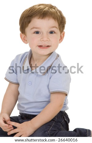 Baby crawling in diaper on a white background