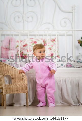 Baby girl in the nursery
