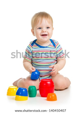 baby or kid playing with toys
