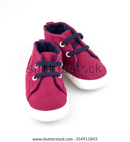 baby shoes isolated on white background