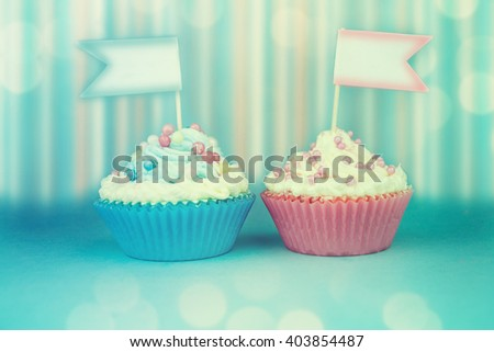 Girl Baby Shower Cupcake Stock Photo 403856353 Shutterstock
