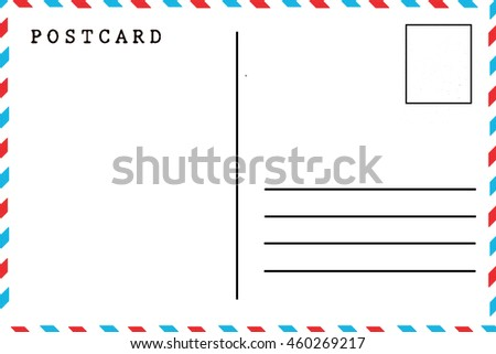 vector template reverse side postcard postcode stock vector 524409250 shutterstock. Black Bedroom Furniture Sets. Home Design Ideas